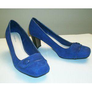 Croft & Barrow Royal Blue High Heel Pumps, sz 8.5
